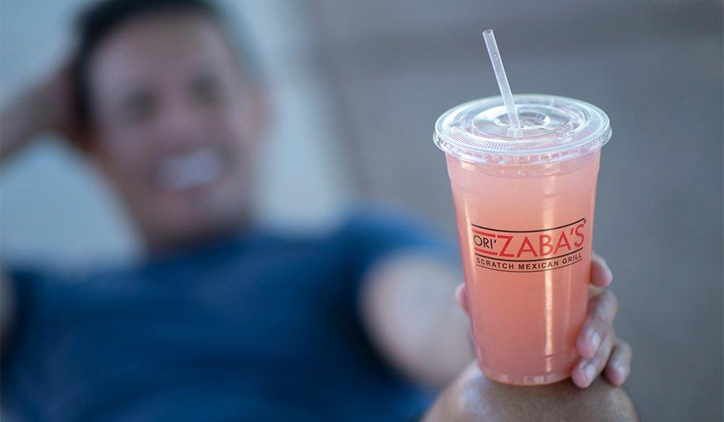Mexican food Las Vegas Ori'Zaba's agua fresca pink