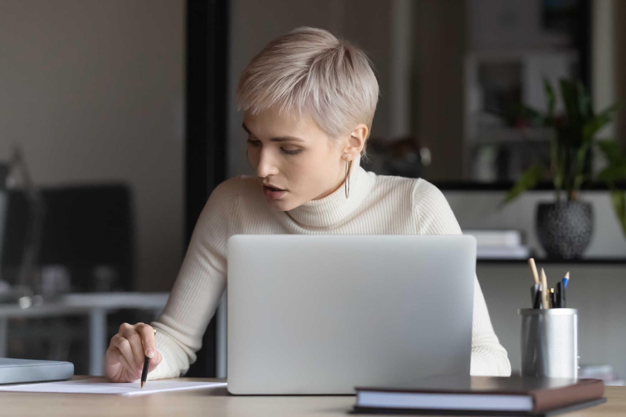 Women Working Computer
